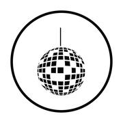 Party disco sphere icon Stock Illustration