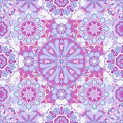 Seamless round pattern for printing on fabric or paper. - stock illustration