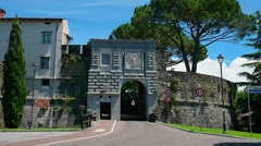 Gate to the castle of Gorizia Stock Footage