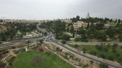 Jerusalem - Hennom Valley; Sultan's pool; Jerusalem University College.mp4 Stock Footage