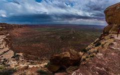 Valley of the Gods fromm Moki Dugway Overllook - stock photo