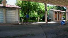 Italy-Slovenia border in Gorizia Stock Footage