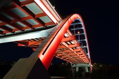 Korean Veterans Blvd Bridge Cumberland River Nashville Tennessee Stock Photos
