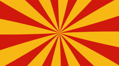 Retro Radial Red and Yellow Pattern. Stock Footage