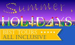 Summer Holidays. Best tours. All inclusive Stock Illustration