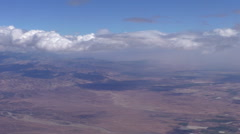 Flying above Morocco High Atlas mountains - stock footage