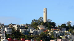 Coit Tower, San Francisco, California Stock Footage