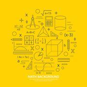 Math icon background Stock Illustration