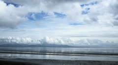 Clouds time lapse sea beach beautiful storm timelapse 4k ocean landscape Stock Footage