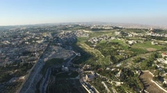 Jerusalem - Hills overview; Kidron valley Stock Footage