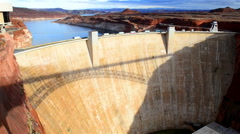 Glen Canyon Dam over Colorado near Page, Arizona Stock Footage