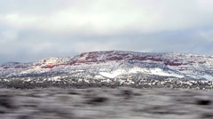Drive through the snow mountains Stock Footage