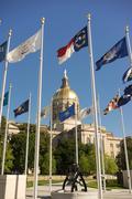 Atlanta Georgia State Capital Gold Dome City Architecture - stock photo