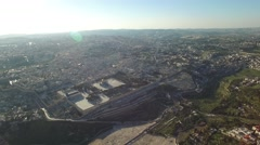 Jerusalem - Hills overview; Temple Mount; Mout of Olives; Kidron valley Stock Footage