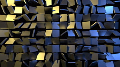 Tiles Transition Gold Blue Metallic Perfect Loop Stock Footage