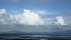 clouds time lapse sea beach beautiful storm timelapse 4k ocean landscape - stock footage
