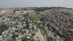 Jerusalem - Temple Mount; Dome of the Rock; Al-Aqsa Mosque; ; Silwan pool Stock Footage