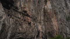 Male Climber at High Rocks 4K Stock Footage