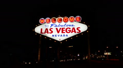 Welcome to Las Vegas neon sign Stock Footage