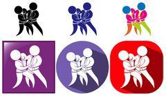 Sport icons for judo Stock Illustration