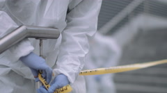 Forensic science team working on police investigation site Stock Footage