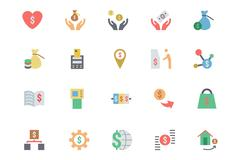 Credit Card Payment Icons Set - stock illustration
