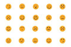 Smiley Colored Icons Collection Stock Illustration