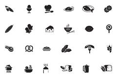 Food Solid Icons Collection Stock Illustration