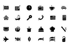 Hotel and Restaurant Icons - stock illustration