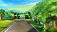 Path Near the Forest Stock Illustration