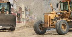 Helper Utah industrial road building downtown DCI 4K Stock Footage