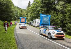 Col de Platzerwasel,France - July 14, 2014: Ibis Budget Hotels Caravan - stock photo