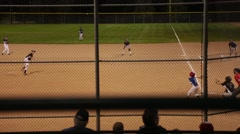 Kids Baseball Game - stock footage