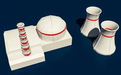 Illustration of Nuclear power station Piirros