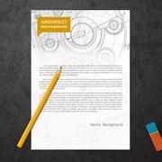 Set of corporate identity templates - stock illustration