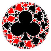 Poker playing cards suit mosaic Piirros