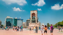 Istanbul. Taksim square on sunny summer day - stock footage
