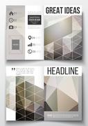 Set of business templates for brochure, magazine, flyer, booklet or annual - stock illustration
