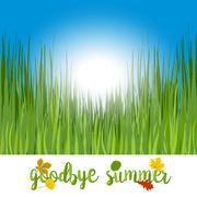 Hello autumn. Goodbye summer - stock illustration