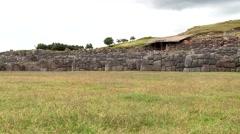 Inca city Sacsayhuaman in Peru - stock footage