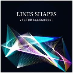 Lines shapes light abstract on blue dark background. Vector expanding light. Stock Illustration