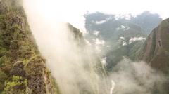 Trail from Machu Picchu to Wayna Picchu Stock Footage