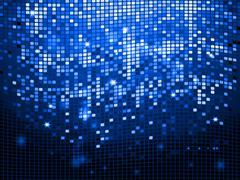 Blue sparkling disco wall background - stock illustration