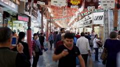 Walking along at Dubai Gold Souq(market), UAE Stock Footage
