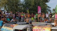 Kiev, Ukraine: Cup Trampoline Stock Footage