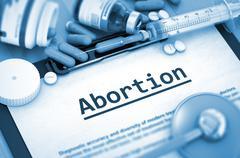 Abortion. Medical Concept Stock Illustration