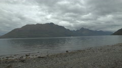 Lake Wakatipu, Low Angle Shot Stock Footage