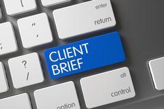 Client Brief Keypad Stock Illustration