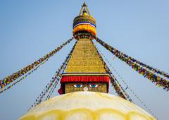 Boudhanath stupa in Kathmandu Stock Photos