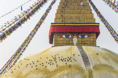 Boudhanath stupa in Kathmandu - stock photo
